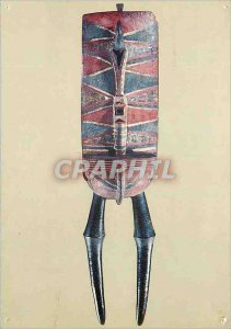 Modern Postcard Paris museum of African arts and Pacific Islands mask initiat...