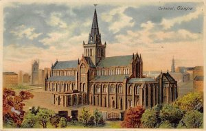 Cathedral Glasgow, Scotland Hold to Light Unused tab marks on corners from be...