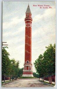 St Louis Missouri~New Water Tower~Dear Sadie Wolfheim~c1910 Postcard