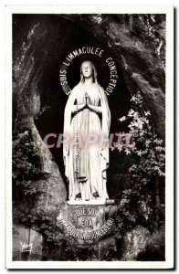 Old Postcard Lourdes Madonna and Mircouleuse