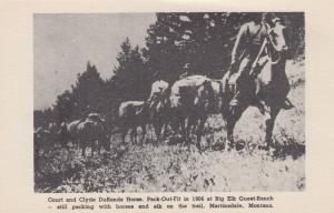 HARLOWTON , Montana , 1906; Court & Clyde DuRands Horse Pack-Out-Fit