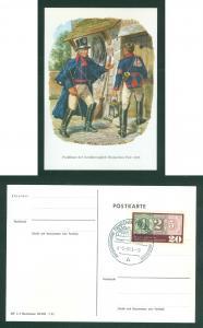 Germany. Postcard 1965. Postmen from Hessen (1820 ) Used