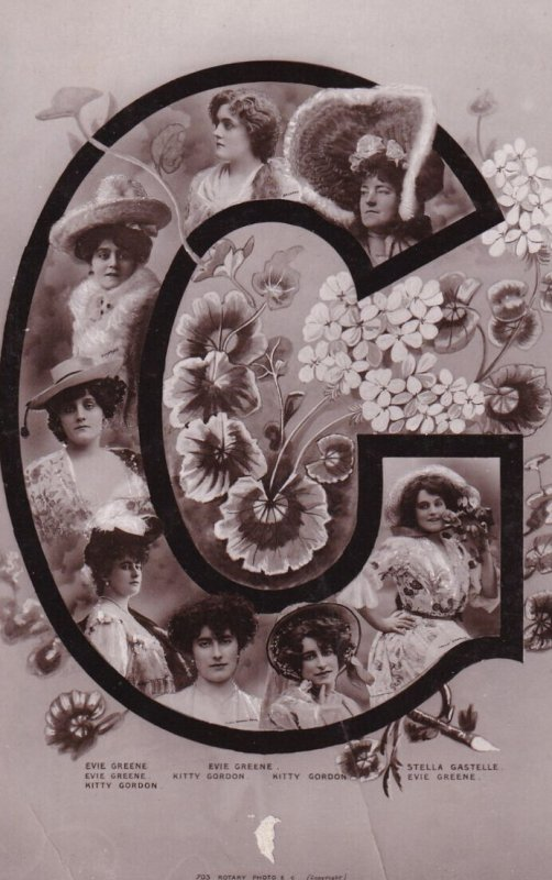 RP; 1900-1910's; Ladies Surrounded By Flowers Inside A Big G