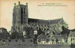France Saint Omer Basilique Notre Dame Vue Generale Exterieure Postcard
