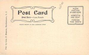 H70/ Bordentown New Jersey Postcard c1910 Farnsworth Ave Trolley  203