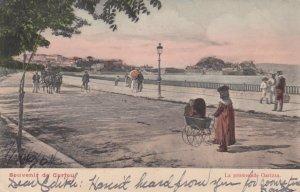 CORFOU , Greece , 1914 ; La promenade Garizza