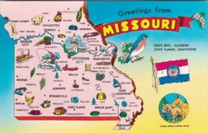 Greetings From Missouri With Map