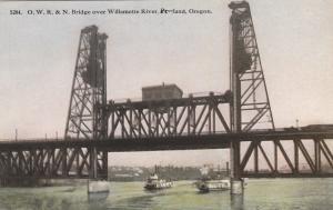 PORTLAND , Oregon , 00-10s ; O.W.R.& N. Bridge over Willamette River
