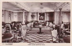 RP, Interior-Steamer, Empress Of Australia, First Class Smoking Room, 1920-...