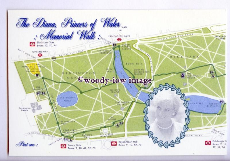 er0156 - The Diana Princess of Wales Memorial Walk, Part One - postcard