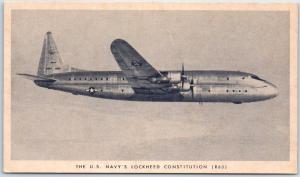 Vintage Military Aircraft Postcard U.S. NAVY'S LOCKHEED CONSTITUTION Unused