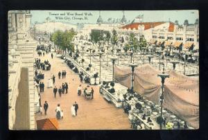 Chicago, Illinois/IL Postcard, Terrace & West Board Walk, White City