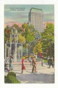 Famous Court Square, Memphis, Tennessee, 1930-1940s