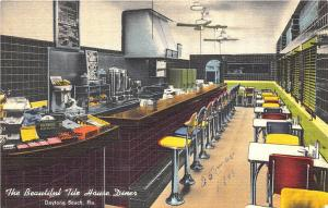 Daytona Beach FL The Tile House Diner Interior View Ralph's Diner Postcard