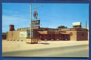 Big Spring Texas tx The Wagon Wheel chrome postcard