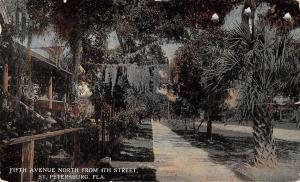 St Petersburg Florida~Fifth Avenue Homes North @ 4th Street~Spanish Moss~1913