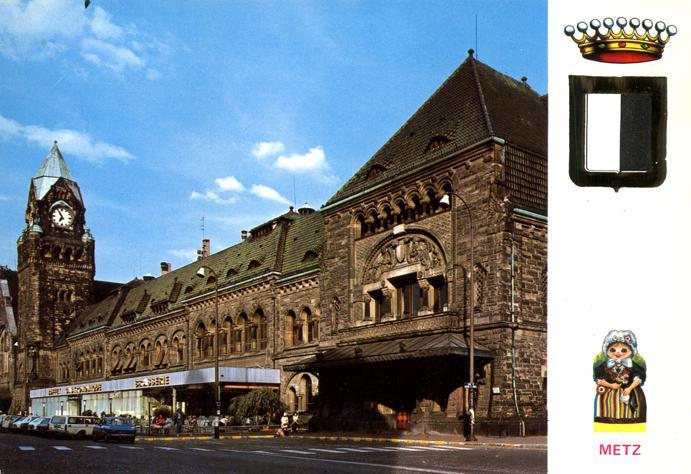 Main Station in Rhenish Style - Metz, France