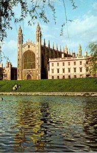 England Cambridge King's College Chapel and Gibbs' Building
