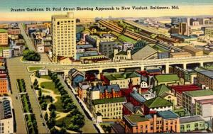 Maryland Baltimore Preston Gardens St Paul Street Showing Approach To New Via...