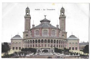 Vintage Postcard Paris France Palais Le Trocadero