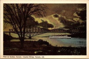 LOT OF 6 : VINTAGE CANADA QUEBEC CHATEAU CHUTES BRIDGE UNPOSTED POSTCARD