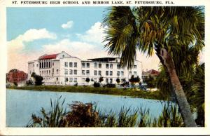 Florida St Petersburg High School and Mirror Lake 1922