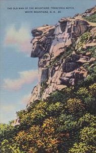 The Old Man Of The Mountains Franconia Notch White Mountain New Hampshire 1940