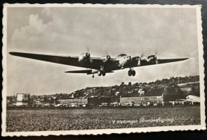 Mint Switzerland RPPC Real Picture Postcard American Bomber