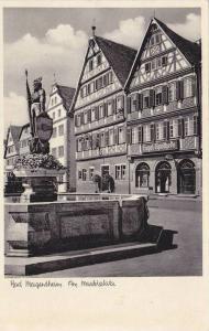 RP; Bad Mergentheim, Am Marktplatz, Baden-Wurttemberg, Germany, 10-20s