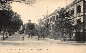 Egypt Suez Office of Suez Canal Company Postcard