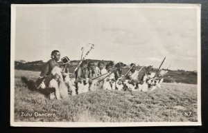 Mint South Africa Real Picture Postcard RPPC Zulu Dancers