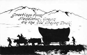 Pendleton Old Oregon Trail~Wagon~c1934 Real Photo Postcard