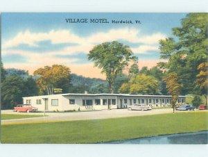 Linen MOTEL SCENE Hardwick Vermont VT AD9702