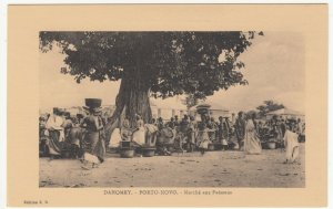 Benin; Dahomey, Porto Novo, The Fish Market PPC, By ER, Unused, c 1920's