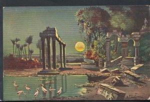 Artist Postcard - Historical Ancient Ruins Scene   RS16273