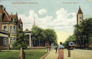 First Baptist Church, Peachtree St. Atlanta GA Postal Used Unknown