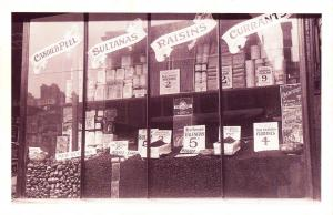 Nostalgia Postcard A Grocers Shop Window December 1910 Reproduction Card NS21