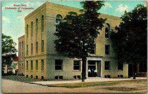 Valparaiso University, Indiana Postcard Music Hall Building View / 1909 Cancel