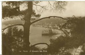Nice, A travers les Pines, 1933 used real photo Postcard