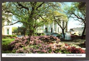 GA Christ Episcopal Church Johnson Square Savannah Georgia Postcard
