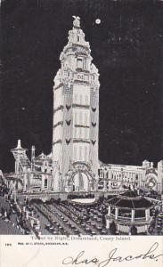 New York City Coney Island Dreamland Tower By Night 1906