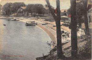 Bell Island Cuba East Beach Scene Waterfront Antique Postcard K39839