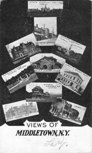 Middletown New York Historic Bldg Multiview Antique Postcard K83914