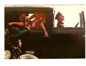 Reid Miles 1980 Photo, Chauffeured Car, Police Motorcycle, Semi Nude