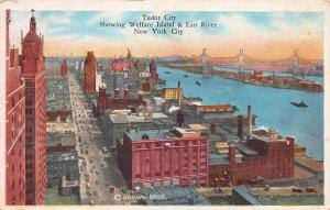 Tudor City, Showing Welfare Island & East River, New York City, Early Postcard