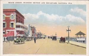 Florida Daytona Beach Street Business Section and Boulevard 1926