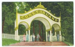 Coney Island Cincinnati OH Entrance 1912 Postcard