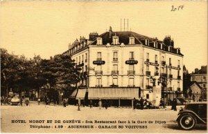 CPA Hotel Morot et de Geneve - Son Restaurant face a la Gare de Dijon (103347)