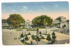 Wiesbaden. Kurhaus, Kolonnaden, Kgl Theater u. Kaiser Friedrich-Denkmal, Germ...