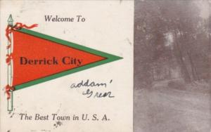 Pennant Series Humour Landscape Scene Derrick City Pennsylvania 1912